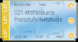 U21-Monatskarte - Preisstufe 4