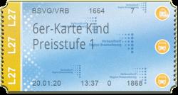 6er-Karte Kind - PS1 (90 min)
