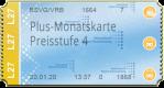 Plus-Monatskarte - Preisstufe 4