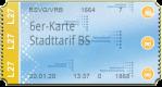 6er-Karte Erwachsene - Stadttarif Braunschweig (90 min)