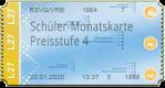Schüler-Monatskarte - Preisstufe 4