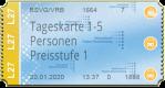 Tageskarte 1 - 5 Personen - Preisstufe 1